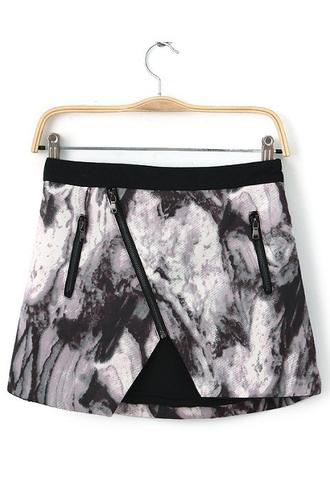 skirt marble dress clothes mini skirt fashion shirt zip