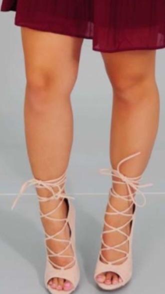 shoes nude heels nude high heels nude pumps peep toe heels laceup heels heels pumps wedges peep toe pumps