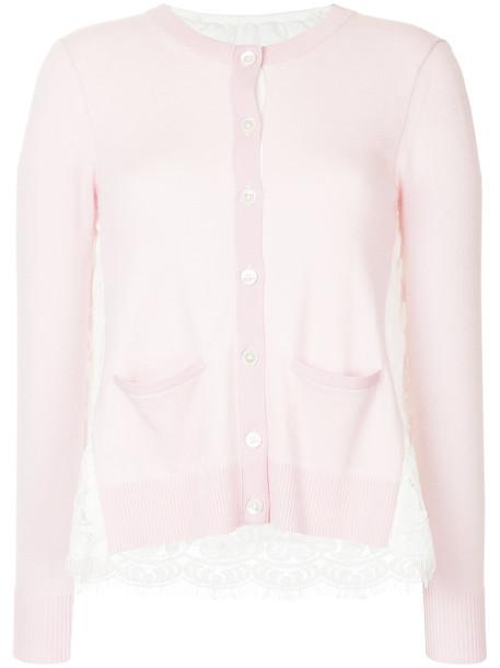 Onefifteen cardigan cardigan women lace purple pink sweater