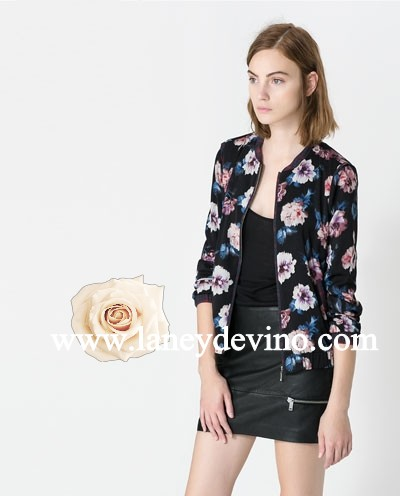 Zara Inspired Floral Printed Outer Jacket_Top/Jacket/Cardigan_Laney De Vino - Powered by ECShop