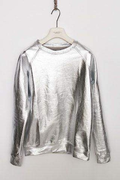 sweater sweatshirt metallic galactic