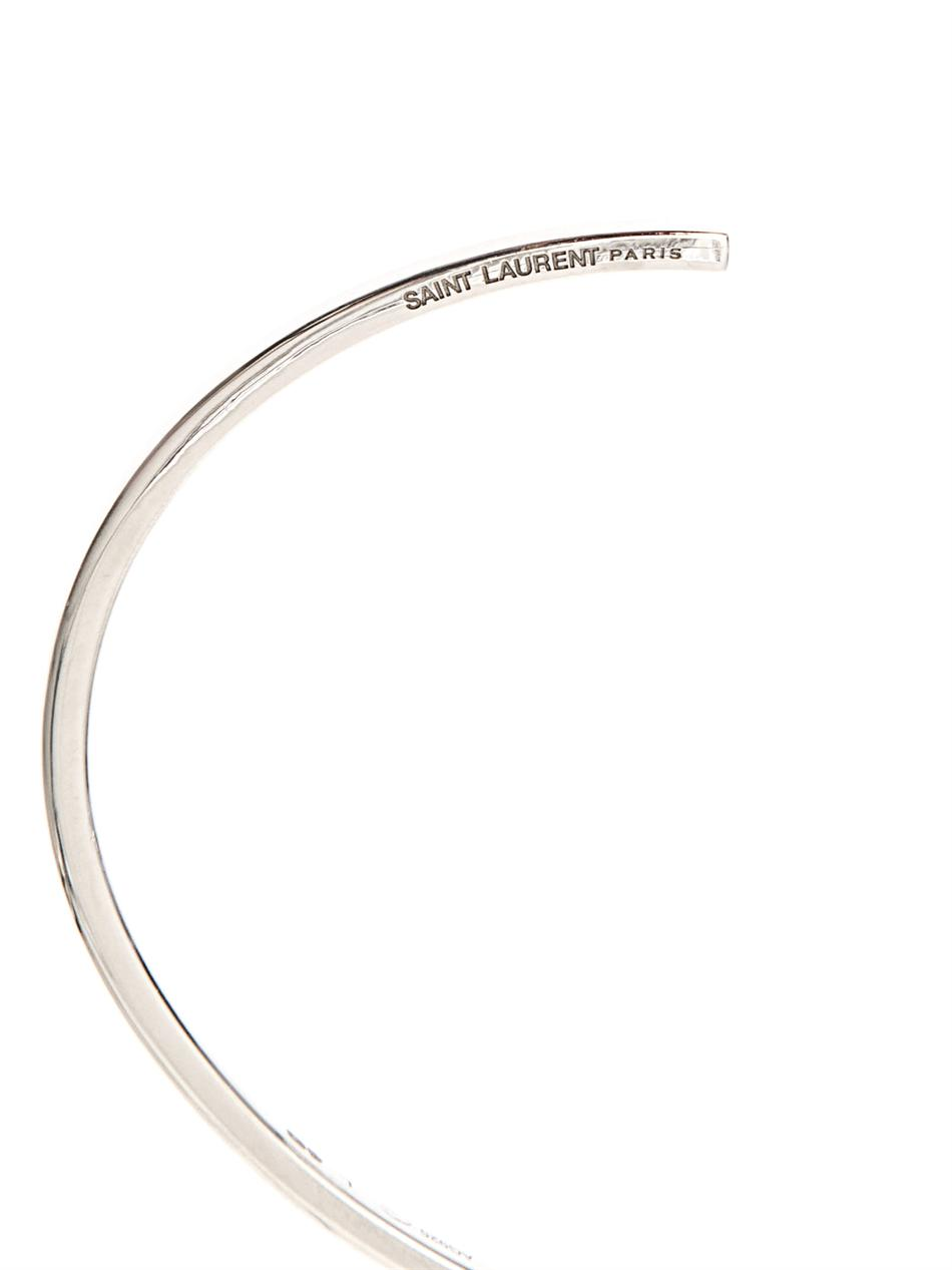 Classic Paris sterling-silver bangle | Saint Laurent | MATCHES...