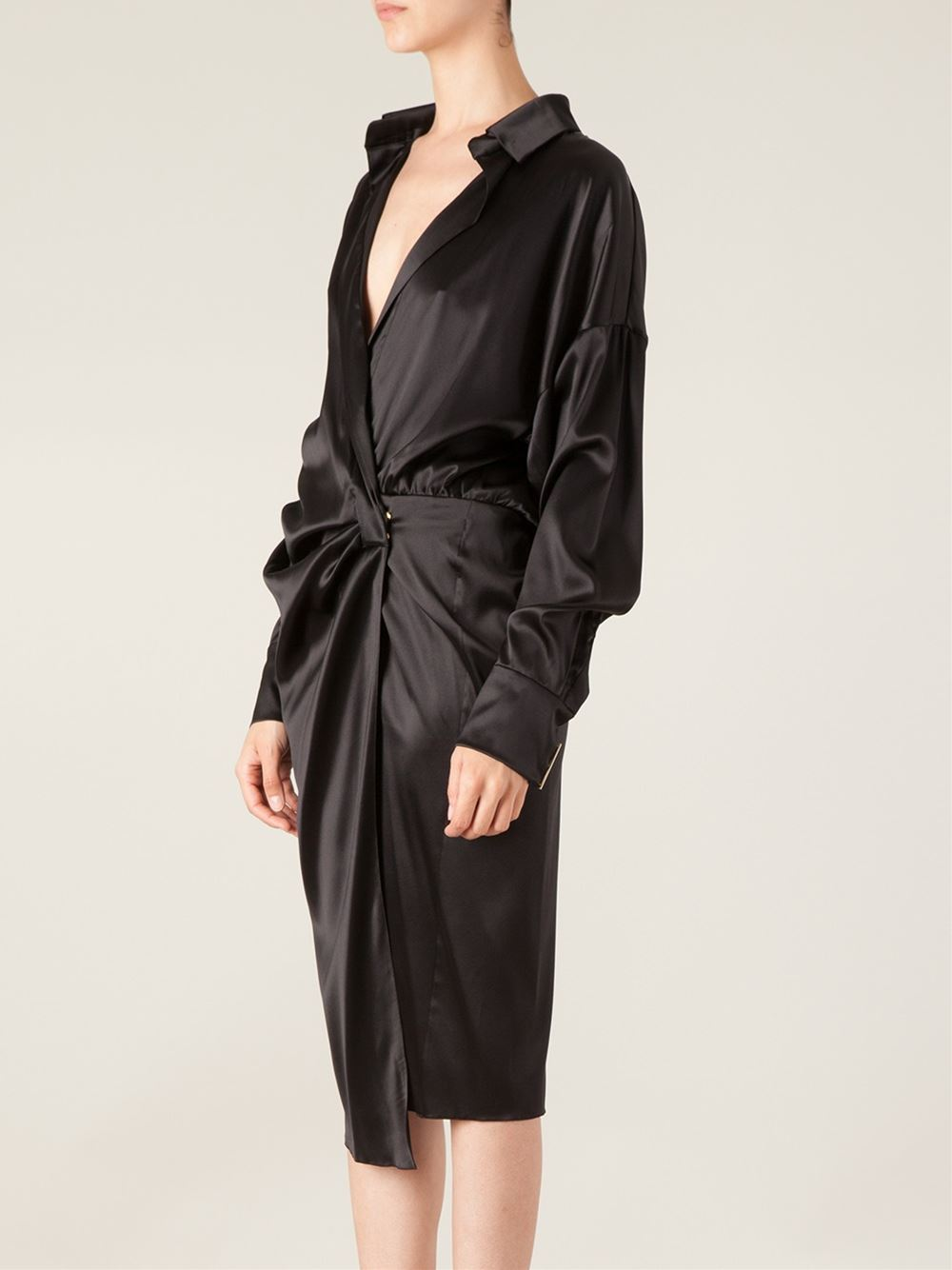 Alexandre Vauthier Draped Shirt Dress - L'eclaireur - Farfetch.com