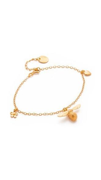 charm bracelet gold jewels