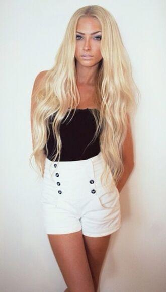 blonde girl shorts High waisted shorts alena shishkova pink 2014 full length forever hill model heart ball sparkle sequins