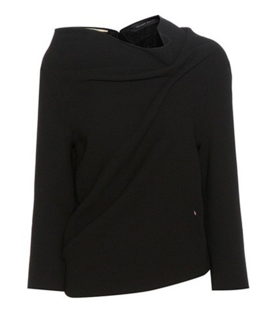 Roland Mouret Oscar Wool Crêpe Blouse in black