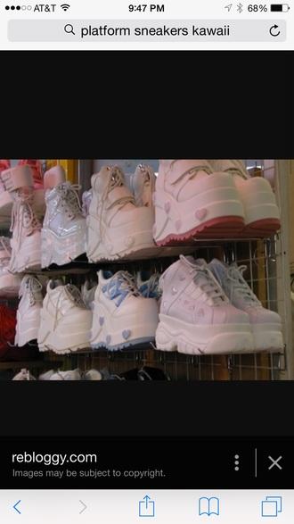 shoes kawaii kawaii grunge 90s style fashion style platform shoes