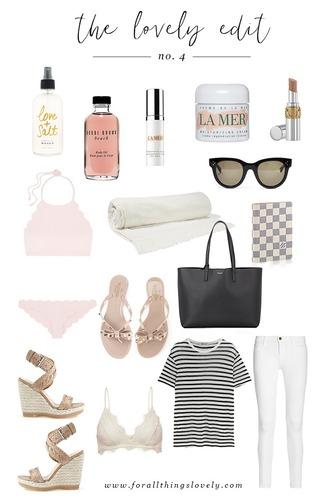 for all things lovely blogger swimwear sunglasses shoes bag t-shirt