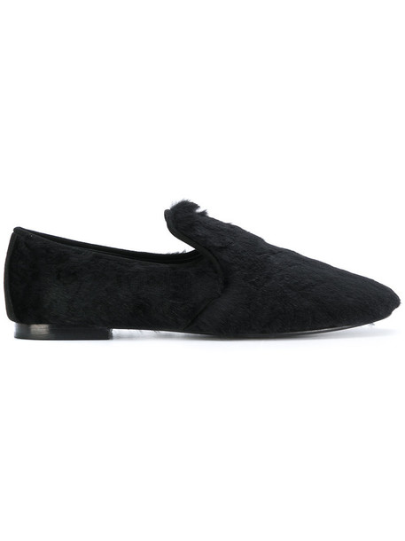 GIUSEPPE ZANOTTI DESIGN women loafers leather black shoes