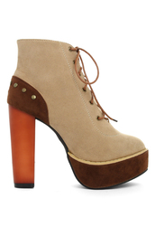 shoes,lace up,high heel,platform shoes,boots,camel
