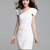 Sheath V Neck Beading Chiffon Dresses : KissChic.com