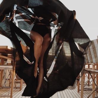 dress cut-out mesh chiffon tumblr
