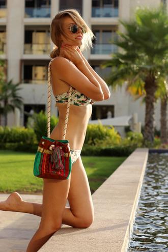 ohh couture bag nail polish make-up swimwear bikini blogger beach summer outfits hipanema sunglasses hipster sexy
