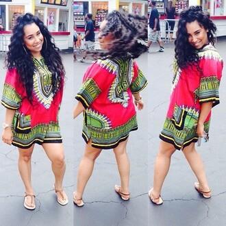 dress t-shirt dress african print
