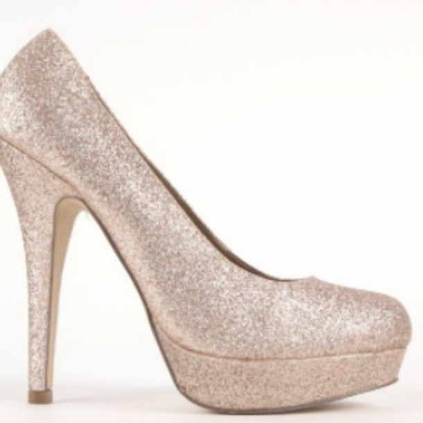 shoes glitter gold prom heels pumps sparkle