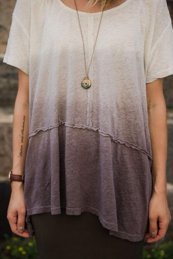 t-shirt ombre bleach dye