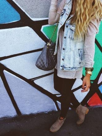 jacket jeans denim jacket vest