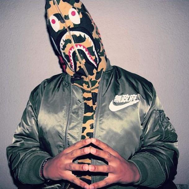 jacket streetwear nike bomber jacket nike bomber jacket bape yung lean sad  boys 2001 japanese army 7eeb8c9c2