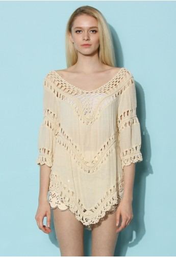 Mix And Match Open Knit Top Retro Indie And Unique Fashion