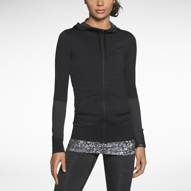 nike dri fit knit full zip damen trainings hoodie nike store de. Black Bedroom Furniture Sets. Home Design Ideas