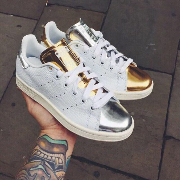 adidas stan smith argento e oro
