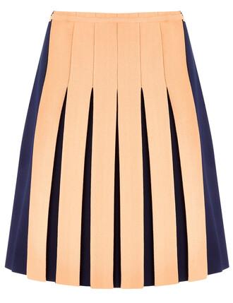 skirt mini skirt mini pleated peach
