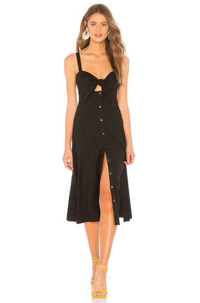 Splendid Dahlia Linen Slub Dress in black