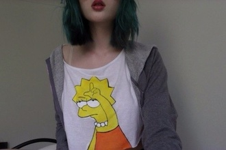 cute shirt yellow simpson t-shirt the simpsons lisa lovely sweet orange