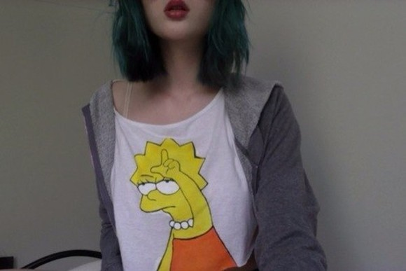 lisa shirt yellow simpson t-shirt the simpsons lovely cute sweet orange