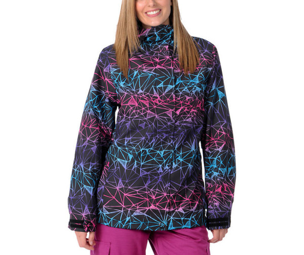 jacket pink purple winter coat winter sports