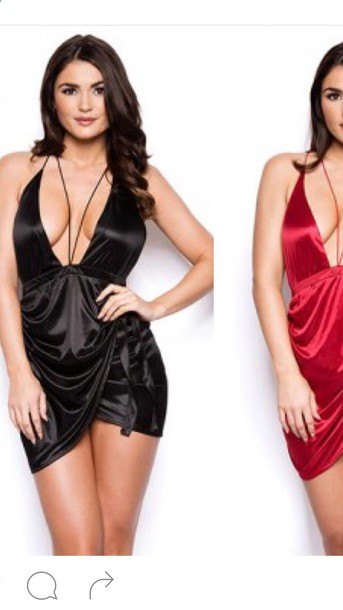 dress silky black dress