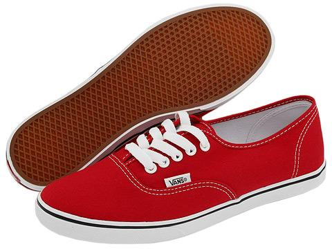 Vans Authentic Lo Pro chili white Best
