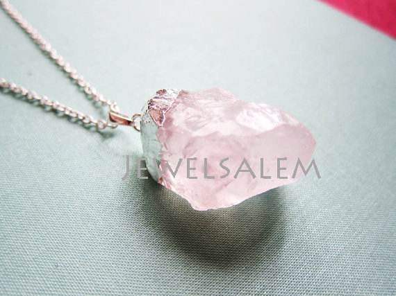 quartz crystal silver diy stone findings bail pendant supplies earrings pillar faceted charm jewelry pink p with stick
