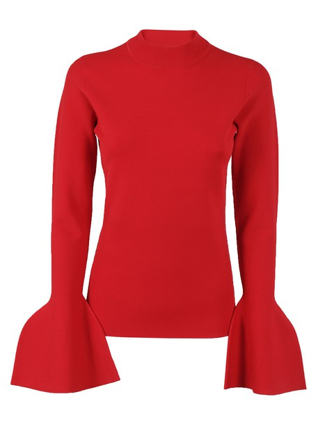 pullover turtleneck red sweater