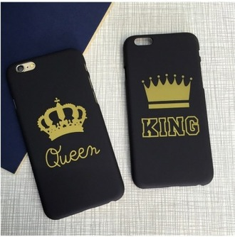 phone cover iphone cover iphone case king and queen black