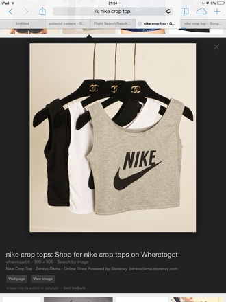 t-shirt nike top this grey tick tik yum chanel inspired hanger channel hanger
