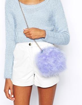 River Island | River Island Lilac Feather Cross Body Bag at ASOS