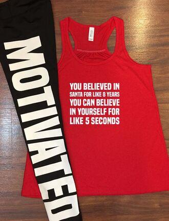 t-shirt funny wokrout tank top santa motivation