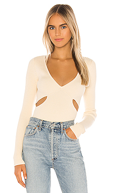 Camila Coelho Tate Sweater in Ivory from Revolve.com