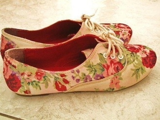 shoes floral cute oxfords