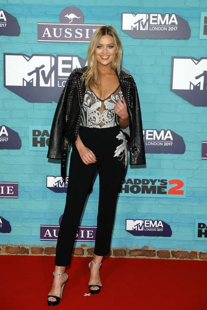 blouse laura whitmore top pants jacket mtv ema awards