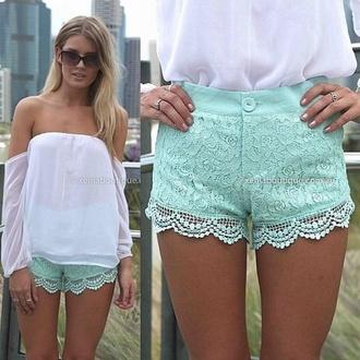 shorts hot pants light blue girly sweet