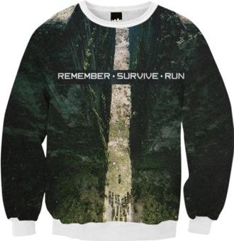 sweater the maze runner fall nature the maze runner sweatshirt