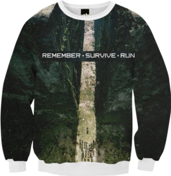 sweater the maze runner fall outfits nature the maze runner sweatshirt
