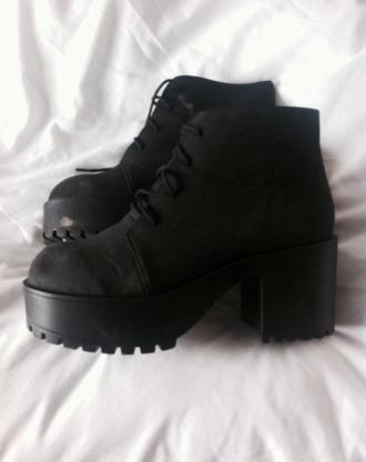 shoes black boots black shoes grunge shoes ankle boots boots chunky sole chunky heels chunky boots