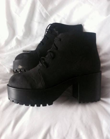 shoes boots black boots ankle boots chunky boots black shoes grunge shoes chunky sole chunky heels