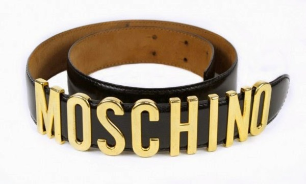 belt moschino black belt gold boxing