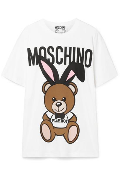 Moschino t-shirt shirt t-shirt oversized white cotton top
