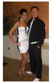 dress,prom dress,formal,white,strapless dress