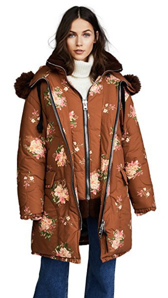 coach coat oversized brown